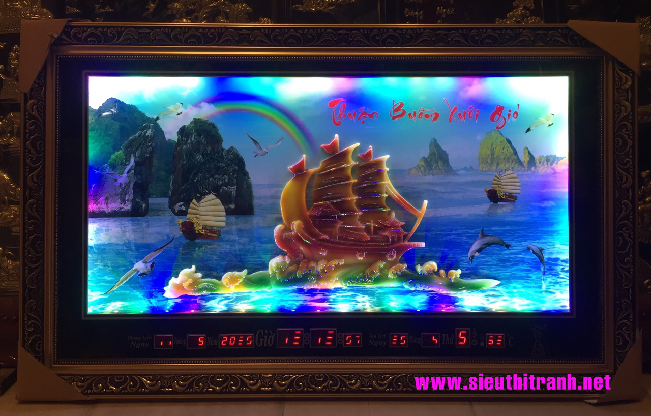 Tranh đá 3D lịch vạn niên-Thuận buồm xuôi gió – D720