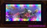 Khai hoa phú quý, tranh đá 3D đèn led lịch vạn niên – D211