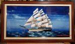 Tranh sơn mài- Thuyền Buồm ra khơi- sm193