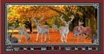 Tranh lịch vạn niên-rừng nai-DH028