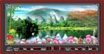 Tranh đồng hồ-Phong cảnh-DH214