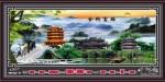 Tranh lịch vạn niên-Ngôi chùa-DH715
