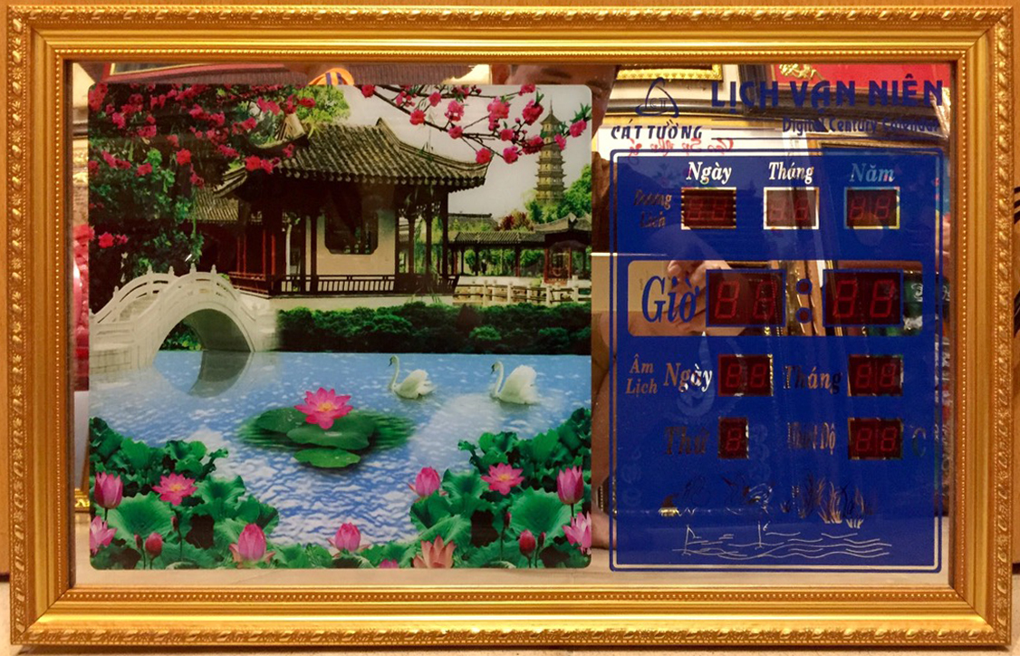Tranh lịch vạn niên ,Phong cảnh- MS718
