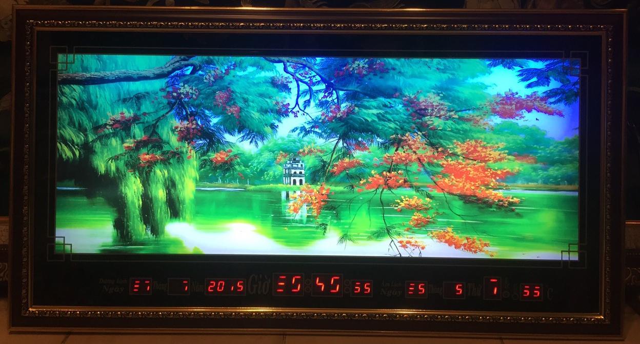 Tranh đồng hồ vạn niên, Hồ Gươm -8615