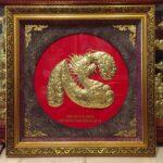 Tranh đồng chữ Tâm hóa rồng-A069