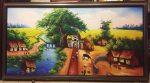 Tranh dầu canvas ,Cánh đồng vào mùa – CV02