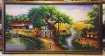 Tranh dầu canvas CV01 – Đồng quê Việt nam