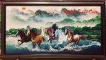 Tranh dầu canvas -Mã đáo quần thủy – CV06