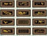Tranh mạ vàng 24k MV015-Mã đáo thành công