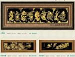 Tranh đồng mạ vàng 24k MV023-Cửu Long..phú quý.. mã đáo