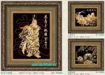 Tranh đồng mạ vàng 24k MV024-Quan Công