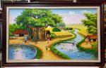 Tranh sơn dầu S144 – Đồng quê Việt Nam
