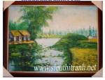 Tranh sơn dầu S53-Đồng quê