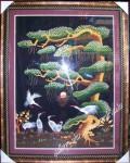 Tranh thêu-Tùng Hạc Diên Niên-T037