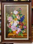 Tranh sơn dầu -Tĩnh vật bình hoa -TV16