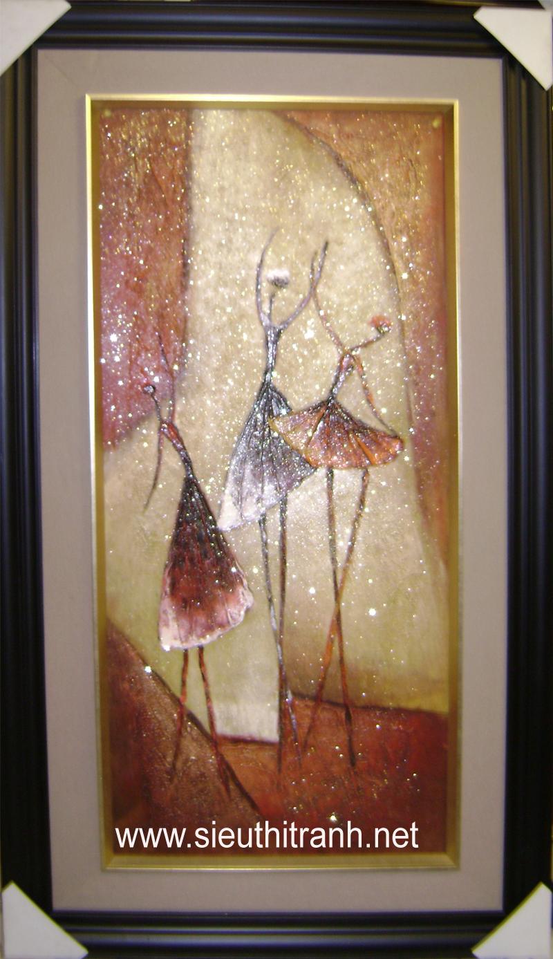 Tranh sơn dầu S117-Trừu tượng điệu nhảy hoàn vũ