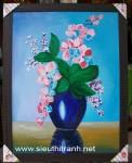 Tranh sơn dầu S180-Bình hoa Lan