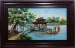 Tranh sứ Quan Họ Bắc Ninh G136