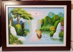 Tranh sơn dầu S154-Thuận buồm xuôi gió