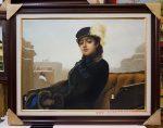 Tranh sơn dầu S34-Người thiếu nữ xa lạ