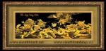 Tranh đồng mạ vàng 24k-Cửu long tranh châu MV29