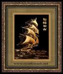 Tranh đồng mạ vàng 24k-thuận buồm xuôi gió-MV19