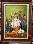 Tranh sơn dầu TV15-Tĩnh vật bình hoa