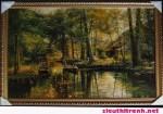 Tranh ép gỗ-Dòng sông nga-V11