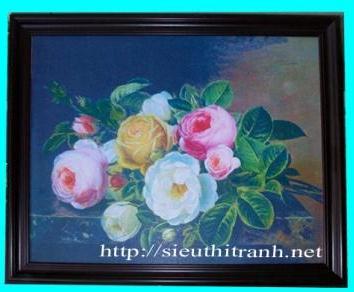 Tranh ép gỗ-Bó hoa-V26