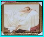 Tranh ép gỗ-Cô gái ngủ-V09