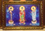 Phật Tam Thánh ( tranh in dầu180 )