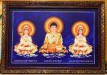 Phật Tam Thánh -199 ( tranh in mực dầu cao cấp )