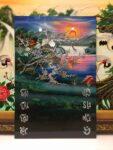 Đốc Lịch sơn mài khảm trai, Đôi uyên ương -4011