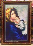 Mẹ Maria bồng con -C57 in dầu ép foam