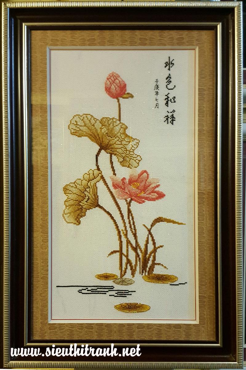 Sen vàng-tranh thêu chữ thập-TCT58