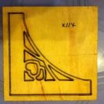 Góc hoa văn cắt giấy bo tranh-X114