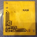 Khuôn chặt góc giấy po tranh-X206