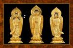 Phật Tam Thánh 239 (ép laminater đổ bóng)