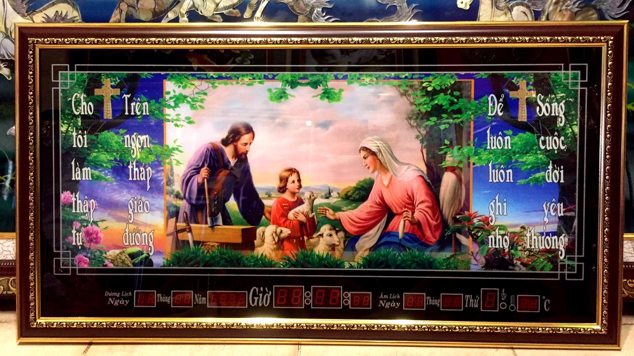 Lịch vạn niên, tranh gia đình thánh gia- 8616