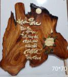 Tranh thư pháp gỗ hương Hạnh Phúc-TG05