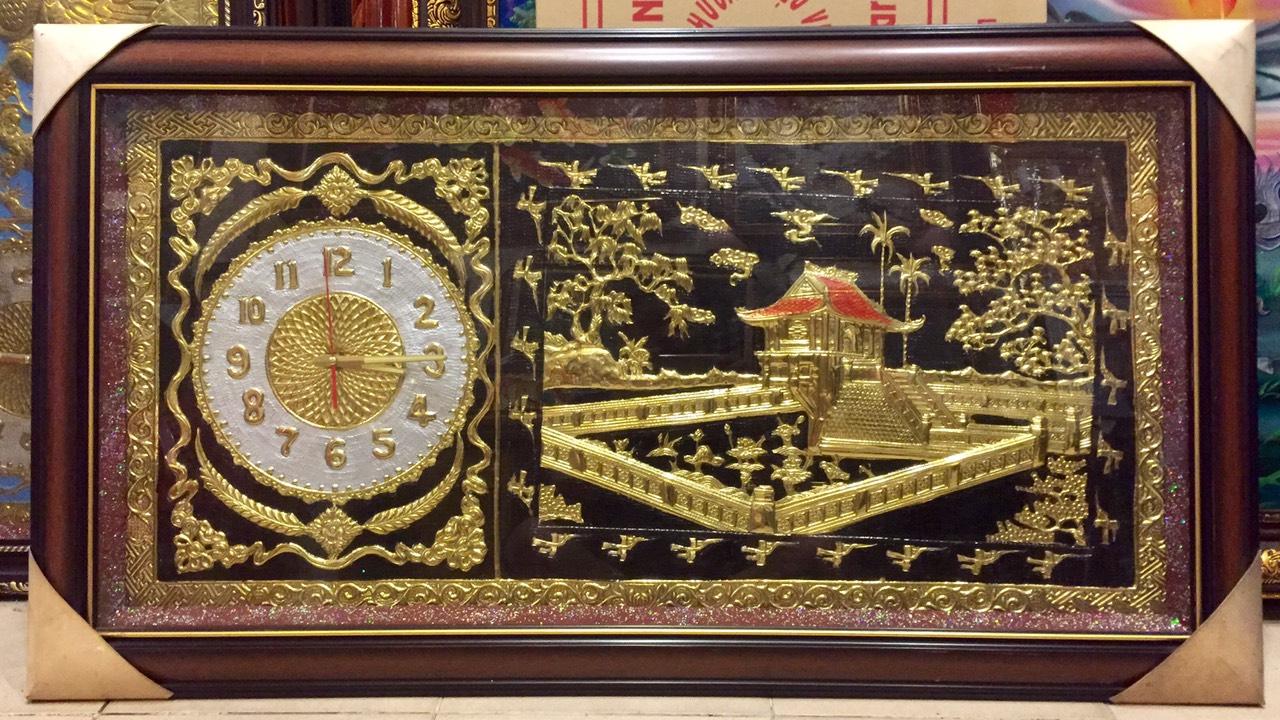 Đồng hồ tranh đồng, chùa một cột – A138