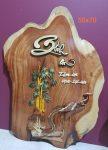 Tranh gỗ nghệ thuật chữ BÌNH AN-tg060