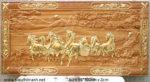 Tranh mã đáo thành công ( gỗ gõ đỏ dát vàng TG055 )