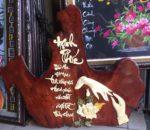 Tranh gỗ nghệ thuật thư pháp Hạnh Phúc- TG064