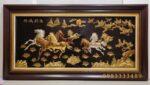 Tranh đồng mạ bạc,vàng 9,999 -Mã đáo thành công -A108