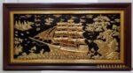 Tranh đồng mạ vàng 9,999 ,Thuận buồm xuôi gió -A114