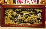 Tranh đồng Mạ Vàng Bạc, Mã đáo thành công -A062