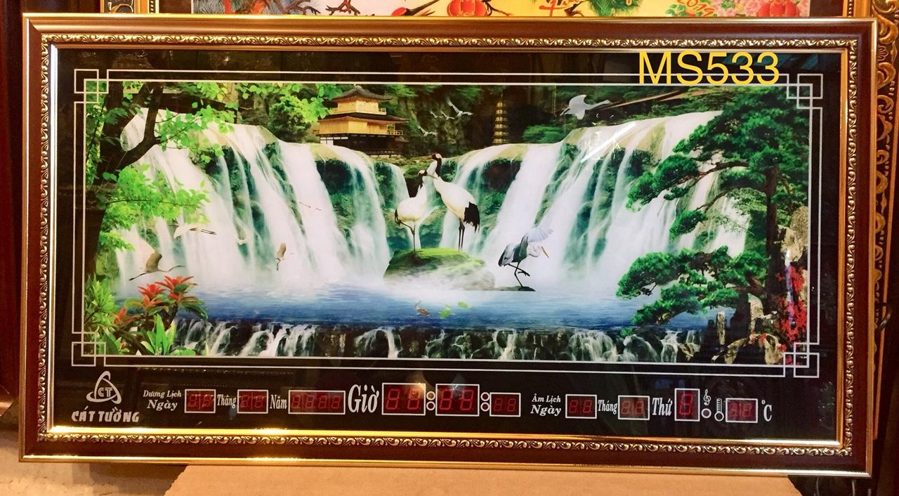 Tranh lịch vạn niên  suối thác -MS533