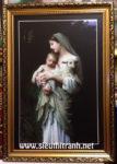 Mẹ Maria bồng chúa giesu -C82 ( in dầu ép foam)