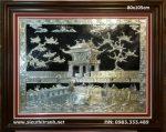 Tranh đồng mạ bạc, quốc tử giám -A169